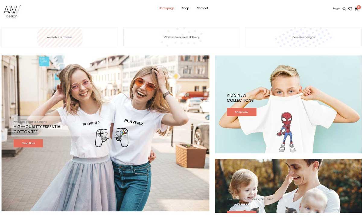 รับทำเว็บไซต์ wordpress เว็บไซต์ขายเสื้อ